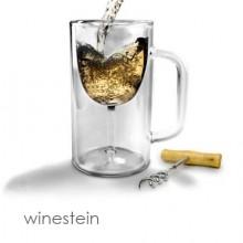 Пивная кружка для любителей вина, предпочитающие пить из пивных кружек. Реально выпускаемая кружка винной компанией Winestein, которая считает такую кружку стильной находкой для баров. Стоит 20$.